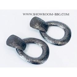 Boucles Luna Silver