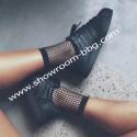 Chaussettes noires résille