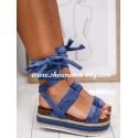 Sandales à plateforme bleu jeans