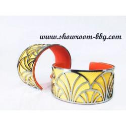 Bracelet Brigitte jaune / orange