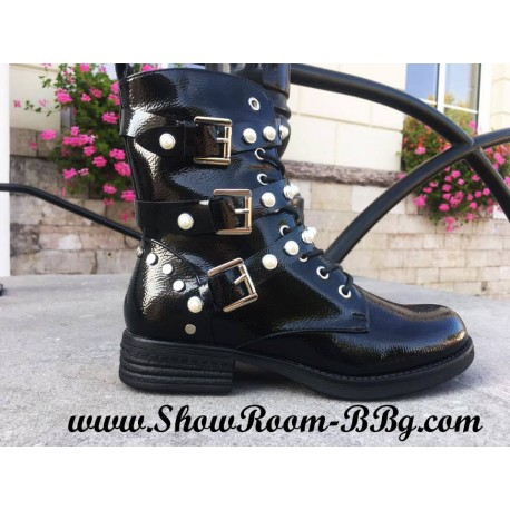 Bottines Milano Perles Vernies