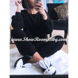 Pyjama pilou noir