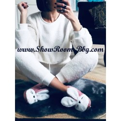 Pyjama pilou blanc