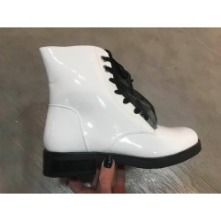Bottines blanches vernies