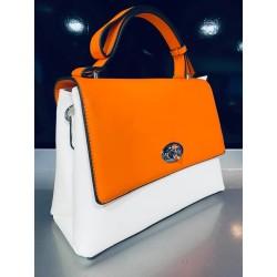 Sac bicolore orange