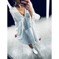 Robe broderie anglaise Blanche