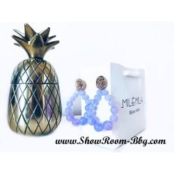 Boucles Salomé lilas
