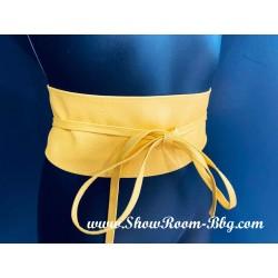 Ceinture kimono jaune