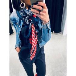 Echarpe bleu et rouge