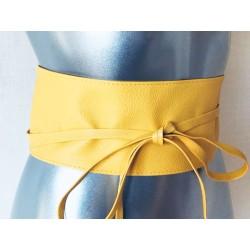Ceinture de kimono jaune
